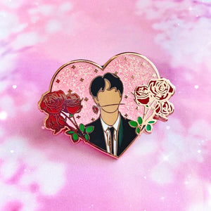 Jin & Roses | Seconds Sale | BTS Enamel Pin