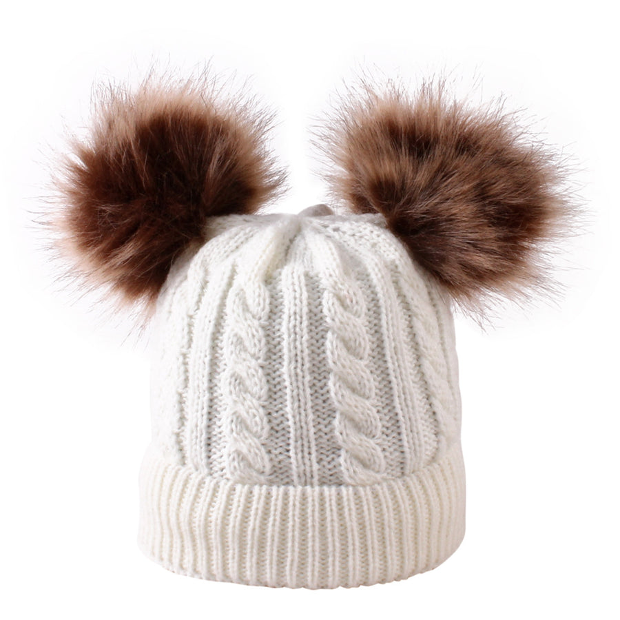 Single Pom Pom Beanie- Cream