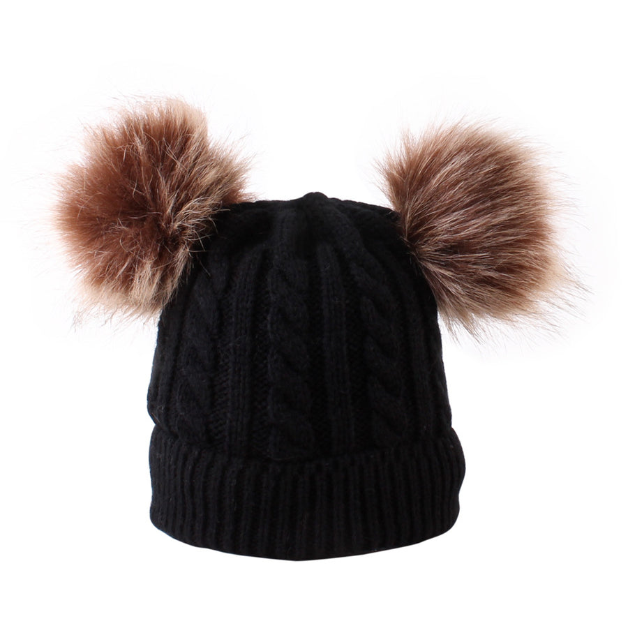 Single Pom Pom Beanie- Black