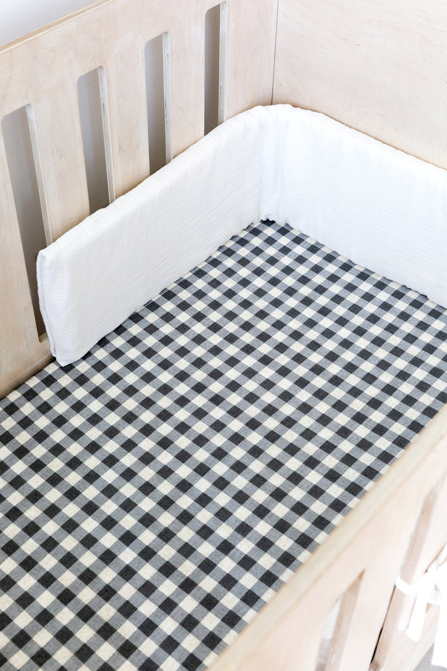 Gingham Cot Fitted Sheet