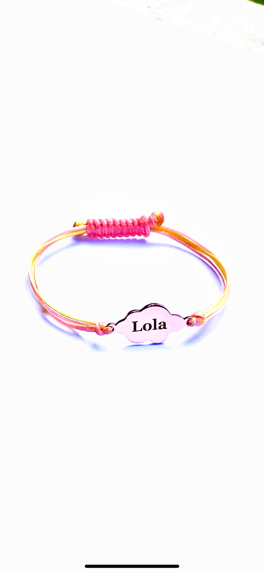 CloudNINE 9ct Rose Gold Personalized Bracelet