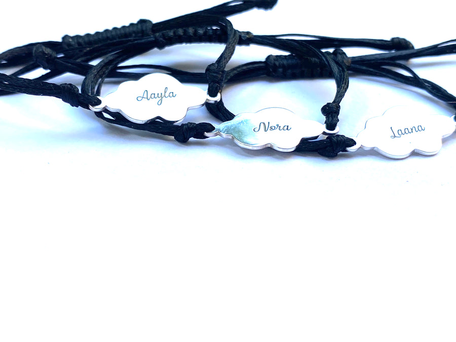 CloudNINE Sterling Silver Personalized Bracelet