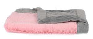Saranoni Lush Luxury Mini Blanket Pink/Gray