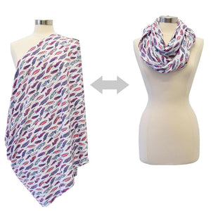Itzy Ritzy Nursing Happens Breastfeeding Scarf