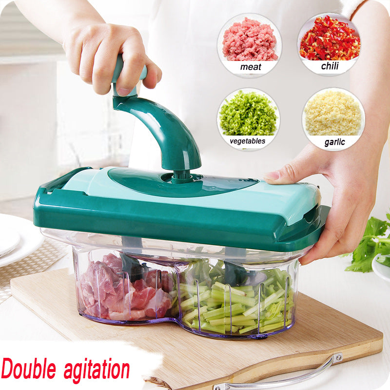 Multifunction Vegetable Chopper Cutter Processor Chopper Garlic Cutter Spiral Shredder Slicer With Stainless Steel Kitchen Tool