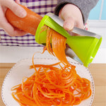 DUOLVQI Vegetable Spiralizer Grater Vegetable Spiral Slicer Cutter Spiralizer for Carrot Cucumber Courgette Kitchen tools gadget