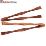 1pc Wood Food Tongs
