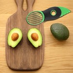 3 in 1 Avocado Pitter Slicer Melon Cutter Corer Peeler Fruit Skinner Kitchen Tool with Grip
