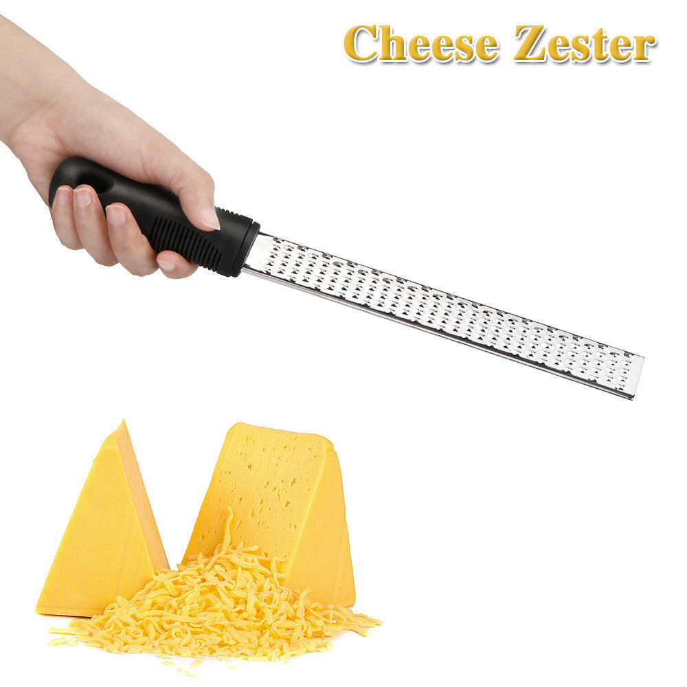Multifunctional Stainless Steel Lemon Cheese Fruit Zester Peeler Grater Kitchen Tool