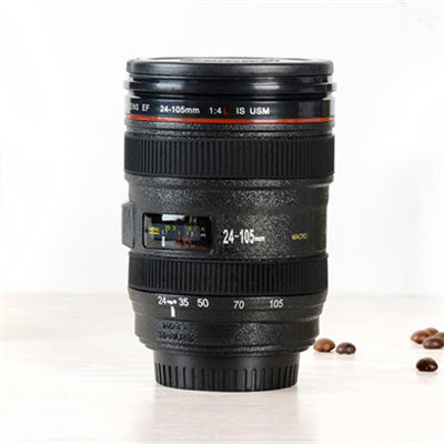 2018 New 480ML Creative Emulation Camera Lens Mugs Plastic Coffee Tea Water Bottle Cup With Lid Novelty Travel Mug Items Cups