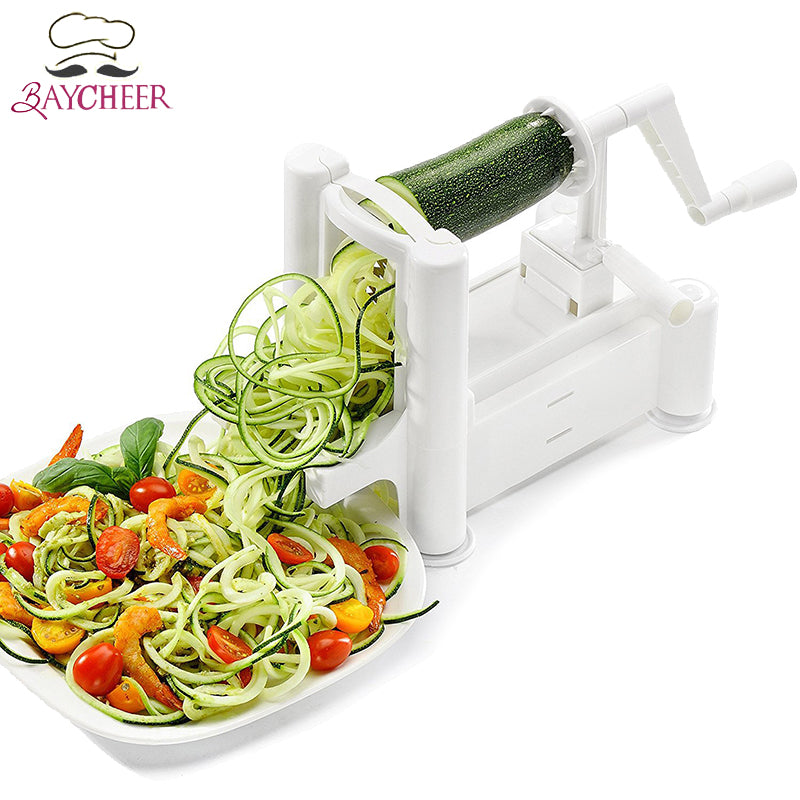 Baycheer 1Set Manual Spiral Grater Slicer For Cucumber Fruit  Vegetable Creative Kitchen Tools