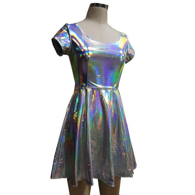Holographic Dress Rave Attire Music Festival Clothing