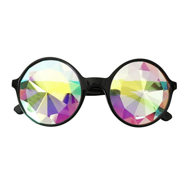 Round Kaleidoscope Sunglasses Rave Accessories Festival Accessories