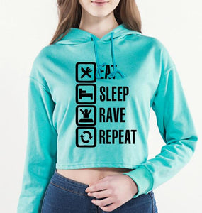 Women's Rave Wear Crop Top Hoodie Rave Attire Rave Wear