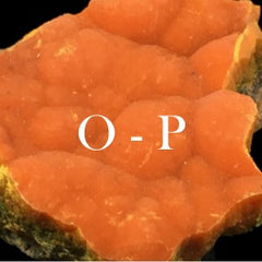 Minerals in alphabetical order: O - P