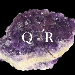 Minerals in alphabetical order: Q - R