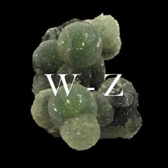 Minerals in alphabetical order: W - Z