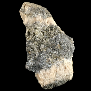 Scainiite with pyrite and quartz; Ludovit Mine, Slovakia - Alexandria Mineral Shop