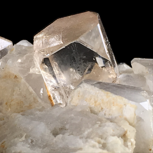 Topaz and quartz on albite; Skardu District, Pakistan (133x85 mm) - Alexandria Mineral Shop