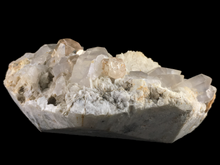 Load image into Gallery viewer, Topaz and quartz on albite; Skardu District, Pakistan (133x85 mm) - Alexandria Mineral Shop