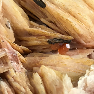 Baryte (barite) with vanadinite; Bou Azzer, Morocco - Alexandria Mineral Shop