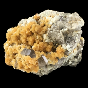 Orthoclase with quartz var. smoky; Piedra Parada, Mexico - Alexandria Mineral Shop