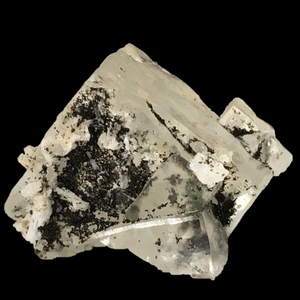 Chamosite on calcite; Millington Quarry, New Jersey, USA - Alexandria Mineral Shop