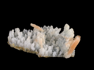Stilbite on chalcedony; Nashik, India - Alexandria Mineral Shop