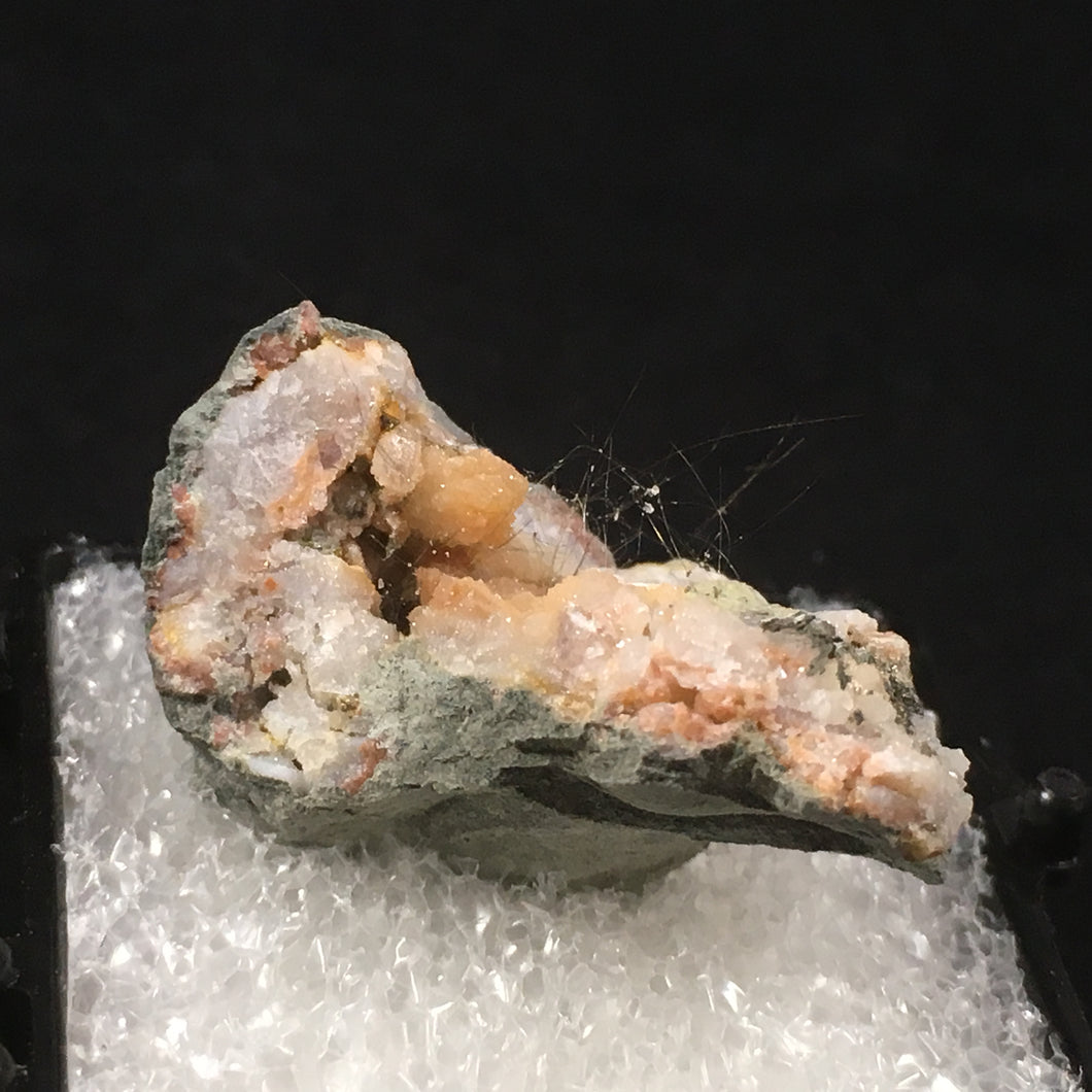 Millerite in quartz; Halls Gap, Kentucky, USA - Alexandria Mineral Shop