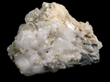 Load image into Gallery viewer, Epidote, calcite, albite, quartz and asbestos; Massif du Queyras, France - Alexandria Mineral Shop
