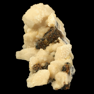 Pyrrhotite on calcite; Potosí Mine, Mexico - Alexandria Mineral Shop