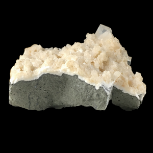 Apophyllite on prehnite; Poona, India - Alexandria Mineral Shop