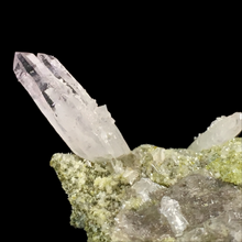 Load image into Gallery viewer, Quartz var. amethyst with epidote; Piedra Parada, Mexico - Alexandria Mineral Shop
