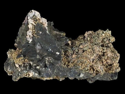 Tennantite with chalcopyrite and quartz; Tsumeb, Namibia - Alexandria Mineral Shop