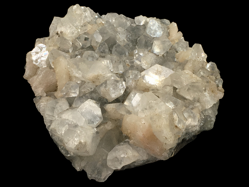 Apophyllite with stilbite; Poona District, India - Alexandria Mineral Shop