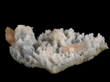 Load image into Gallery viewer, Stilbite on chalcedony; Nashik, India - Alexandria Mineral Shop