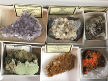 Load image into Gallery viewer, ~Wholesale flat of 21 worldwide mineral specimens - Alexandria Mineral Shop