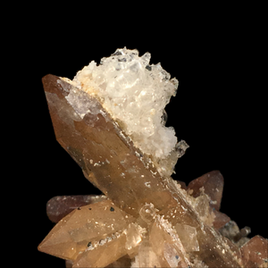Topaz with rutile inclusions and hyaline opal; Tepetate, Mexico - Alexandria Mineral Shop