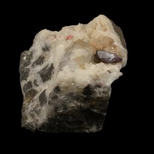 Cinnabar on dolomite with quartz; Tongren, China - Alexandria Mineral Shop