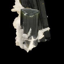 Load image into Gallery viewer, Elbaite tourmaline with albite; Stak Nala, Pakistan - Alexandria Mineral Shop