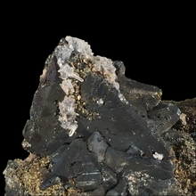 Load image into Gallery viewer, Tennantite with chalcopyrite and quartz; Tsumeb, Namibia - Alexandria Mineral Shop