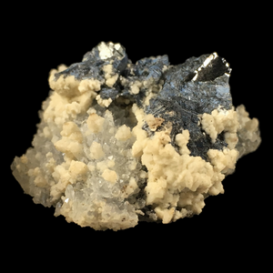 ~Galena, quartz and calcite; Potosí Mine, Mexico - Alexandria Mineral Shop