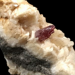 Cinnabar on dolomite; Tongren, China - Alexandria Mineral Shop