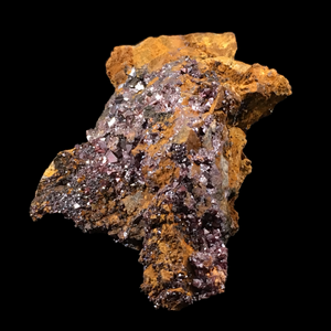Cuprite on copper (native); Daye, Hubei, China - Alexandria Mineral Shop