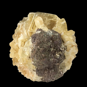 Baryte on pyrite; Cave-in-Rock, Illinois, USA - Alexandria Mineral Shop