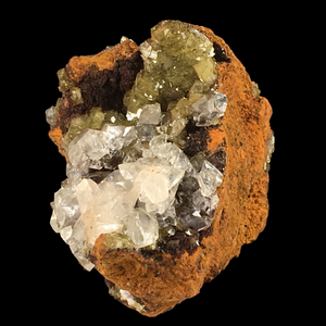 ~Calcite on adamite; Ojuela Mine, Mexico - Alexandria Mineral Shop