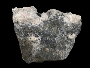 Pearceite with calcite; Uchucchacua Mine, Peru - Alexandria Mineral Shop
