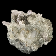Load image into Gallery viewer, Quartz var. amethyst with calcite; Osilo, Italy - Alexandria Mineral Shop