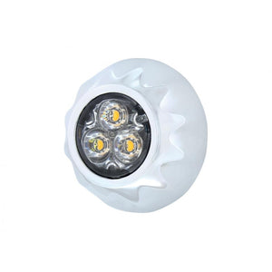 STROBE 3 LED MINI WARNING AMB/CL