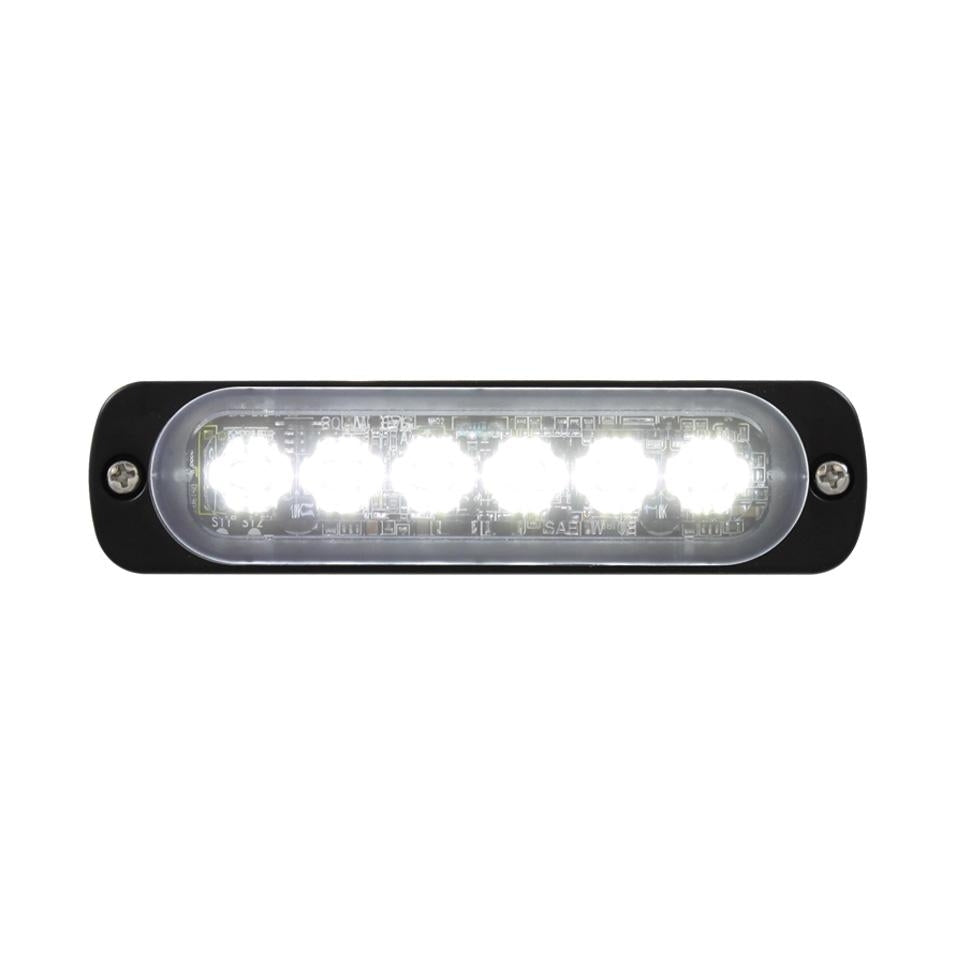 STROBE 6 LED SLIM SEQUENTIAL CLR